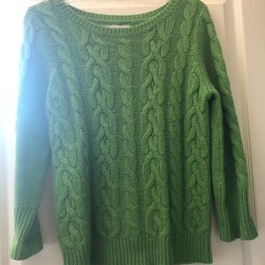 LOFT Green Sweater